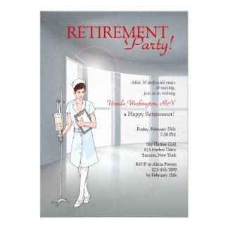 Invitación especial del fiesta de retiro de la enf