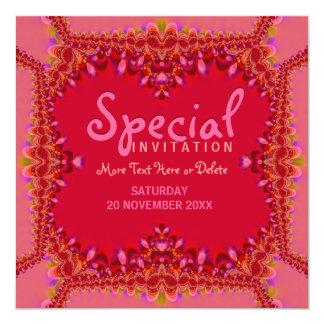 Invitación especial del fiesta del gabinete de