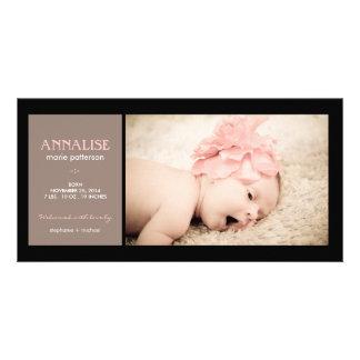 Invitación especial del nacimiento de la niña de l tarjetas personales