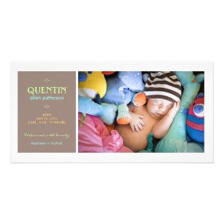 Invitación especial del nacimiento del bebé de la  tarjetas fotograficas personalizadas