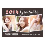 Invitación espléndida de la graduación de las foto