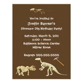 Invitación esquelética de la fiesta de cumpleaños