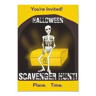 Invitación esquelética del fiesta de Halloween
