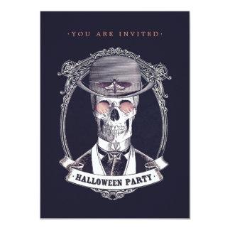 Invitación esquelética del fiesta de Halloween del Invitación 11,4 X 15,8 Cm
