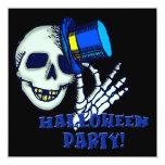 Invitación esquelética del fiesta de Halloween del Invitación 13,3 Cm X 13,3cm