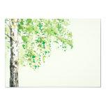 Invitación estacional del árbol de la primavera invitación 12,7 x 17,8 cm