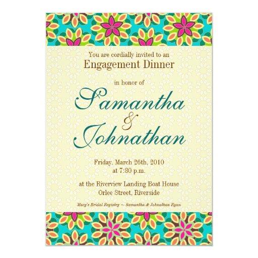 Invitación - estampado de flores vibrante