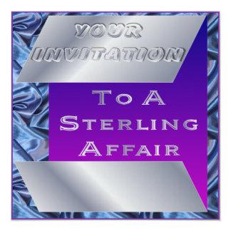 Invitación esterlina del boda