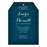 Invitación estrellada del boda del cielo nocturno