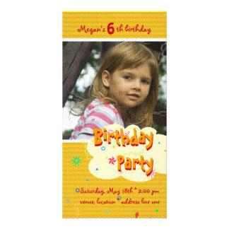 Invitación estupenda de la foto de la fiesta del tarjeta personal
