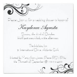Invitación eterna de la ducha del boda del amor