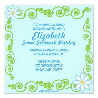 Invitación eterna de la primavera del dulce invitación 13,3 cm x 13,3cm