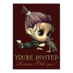 Invitación extraña del fiesta de Halloween de los Invitación 12,7 X 17,8 Cm