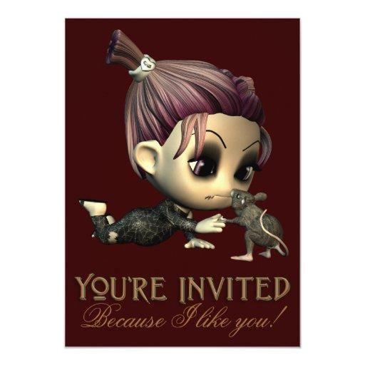Invitación extraña del fiesta de Halloween de los
