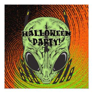 Invitación extranjera del fiesta de Halloween