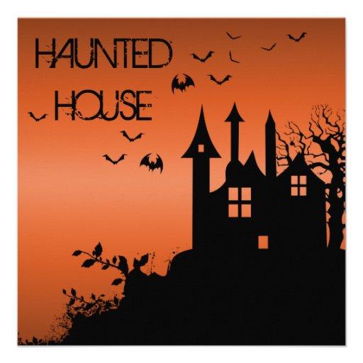 Invitación fantasmagórica de la casa encantada