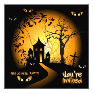 Invitación fantasmagórica de la casa encantada de