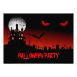 Invitación fantasmagórica del fiesta de Halloween
