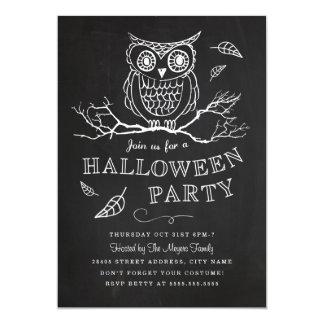 Invitación fantasmagórica del fiesta de Halloween Invitación 12,7 X 17,8 Cm
