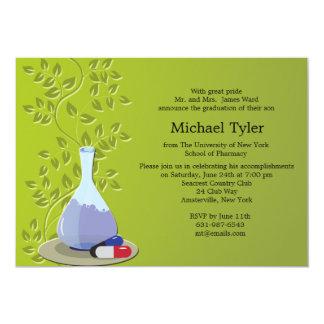 Invitación farmacéutica de la graduación invitación 12,7 x 17,8 cm