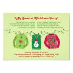 Invitación fea de la fiesta de Navidad del suéter