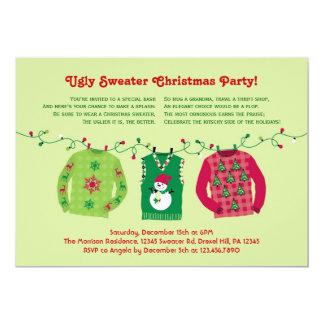 Invitación fea de la fiesta de Navidad del suéter Invitación 12,7 X 17,8 Cm