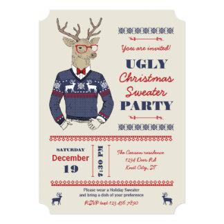 Invitación fea del suéter del navidad de los