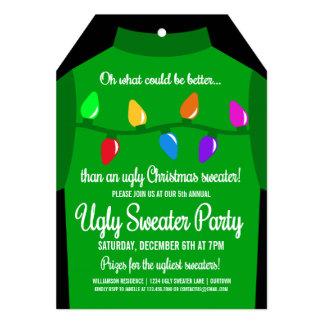Invitación fea divertida del fiesta del suéter del