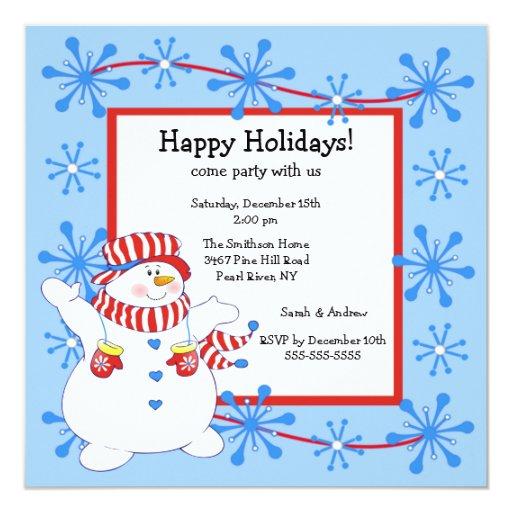 Invitación feliz de la fiesta de Navidad del día