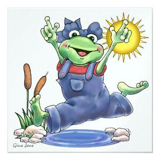 Invitación feliz de la rana de Hoppin por SRF