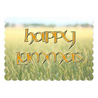 Invitación feliz de Lammas a un Wiccan Sabbat