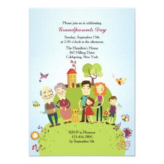 Invitación feliz de los abuelos