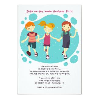 Invitación feliz de los niños
