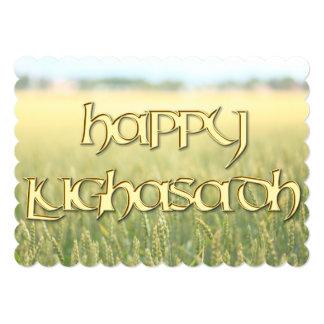 Invitación feliz de Lughnasadh a un Wiccan Sabbat