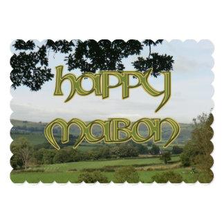 Invitación feliz de Mabon a un Wiccan Sabbat