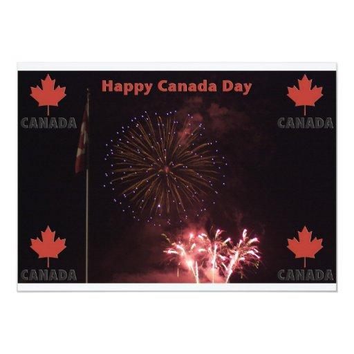 Invitación feliz del día de Canadá