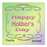 Invitación feliz del día de madre invitación 13,3 cm x 13,3cm
