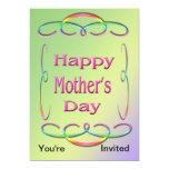Invitación feliz del día de madre invitación 12,7 x 17,8 cm