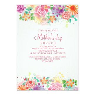 Invitación feliz del día de madre de la frontera