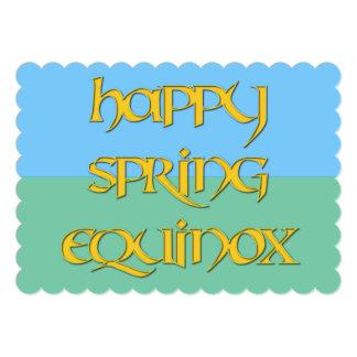 Invitación feliz del equinoccio de primavera a un