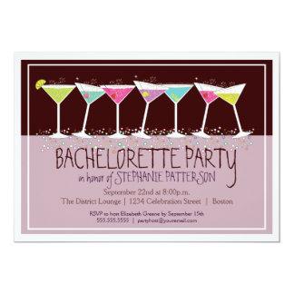 Invitación feliz del fiesta de Bachelorette de los