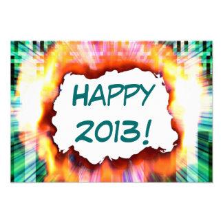 Invitación feliz del fiesta de la ráfaga del Año N
