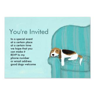 Invitación feliz del personalizado del perro del