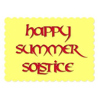 Invitación feliz del solsticio de verano para los invitación 12,7 x 17,8 cm