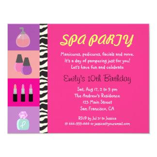 Invitación femenina colorida de la fiesta de