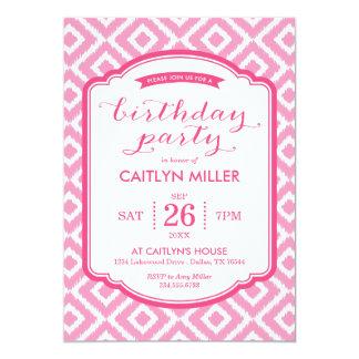Invitación femenina de la fiesta de cumpleaños de