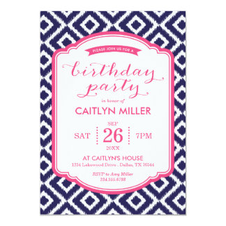 Invitación femenina de la fiesta de cumpleaños de invitación 12,7 x 17,8 cm