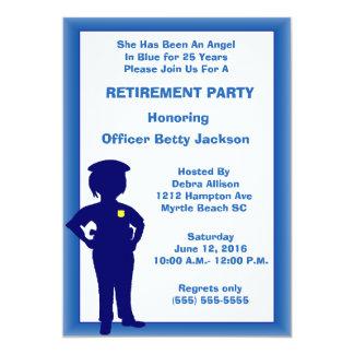Invitación femenina del fiesta de retiro del