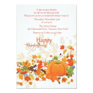 Invitación festiva de la acción de gracias de las