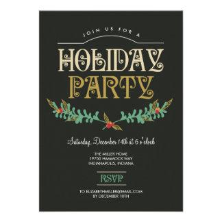 Invitación festiva de la celebración de días festi